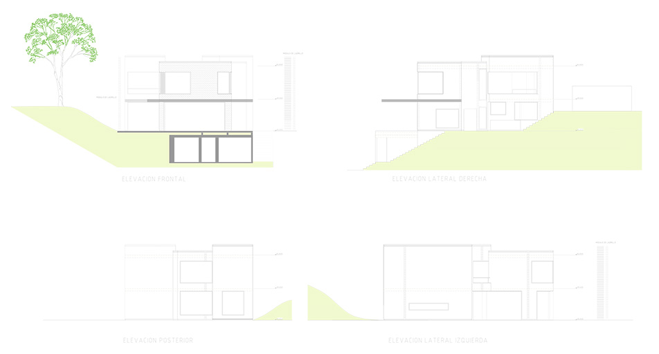 Arquitectura y paisajismo. Planos de Casa en Azpitia. Architecture and landscaping. Azpitia house building design.