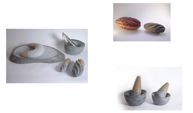 Batan, morteros y exprimidores de piedra para la cocina